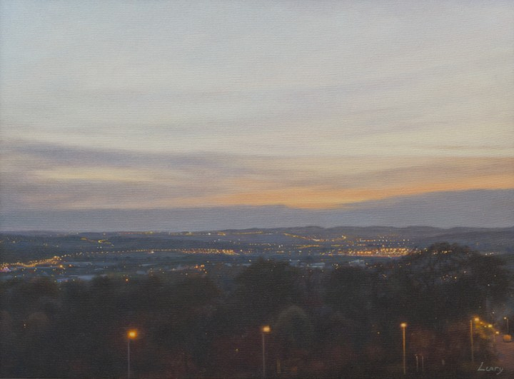View West to Edinburgh Airport
